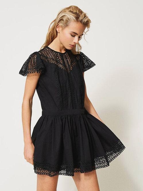 Twin-set woven dress black 014241