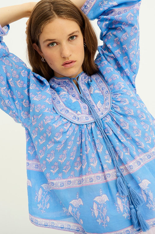 Antik Batik Mori printed blouse blue 013492