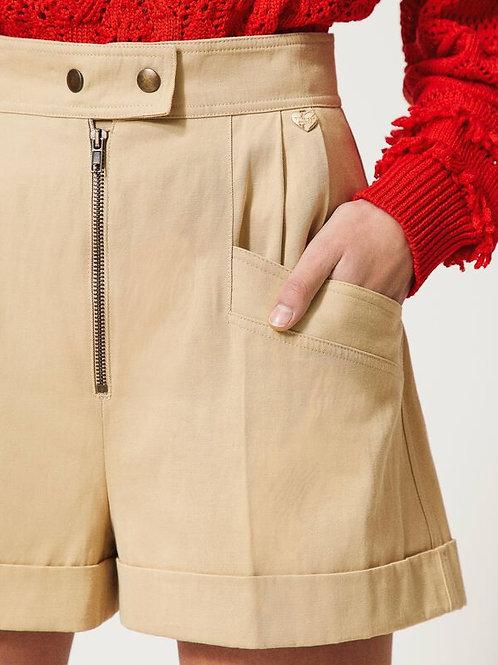 Twin-set High waist shorts 013596