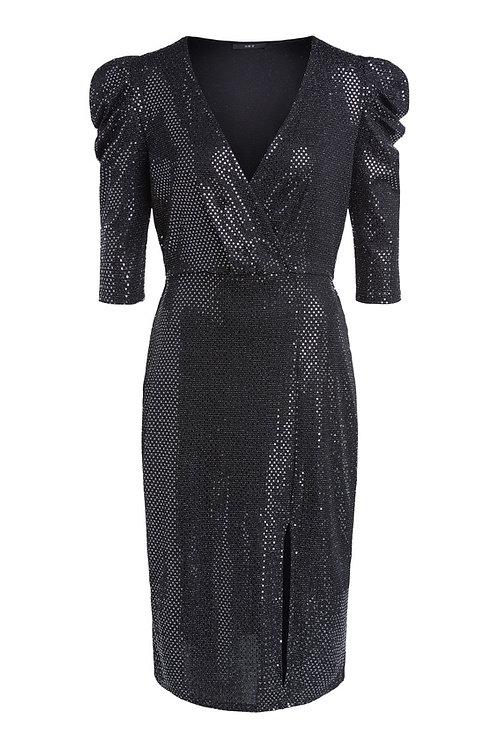 SET - Fabulous metallic sequin evening dress