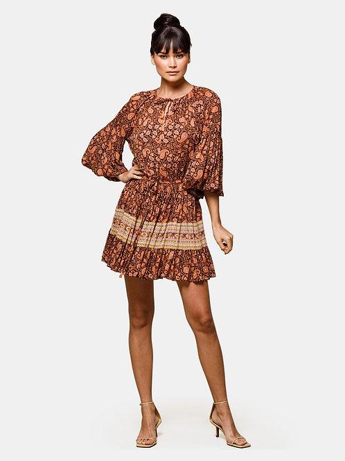 Beach Gold Hazel mini dress paisley