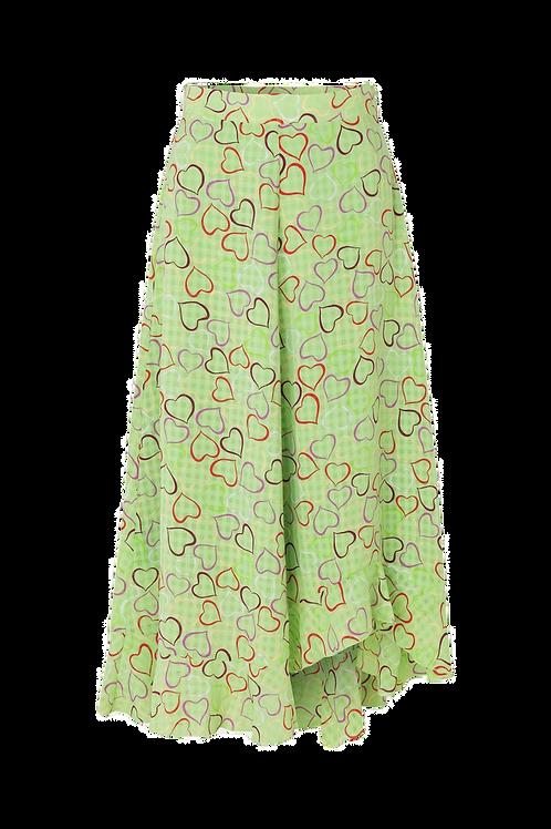 Stine Goya skirt marigold hearts green