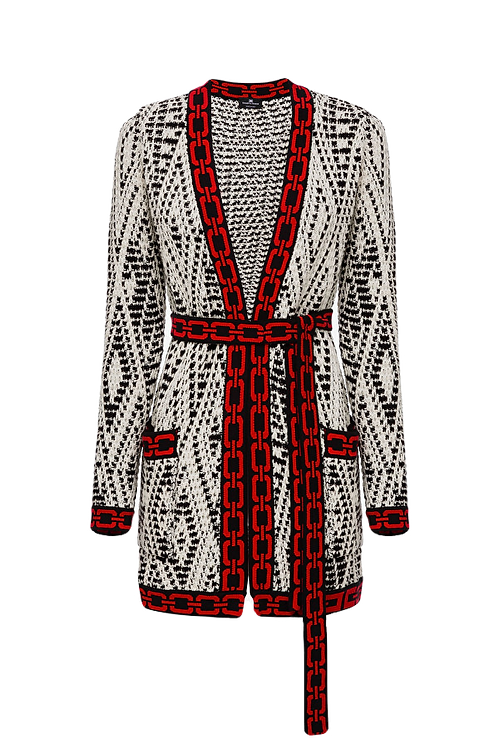 Elisabetta Franchi cardigan with belt