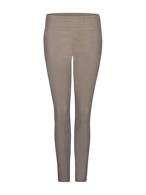 IBANA Colette leather pants taupe 013278