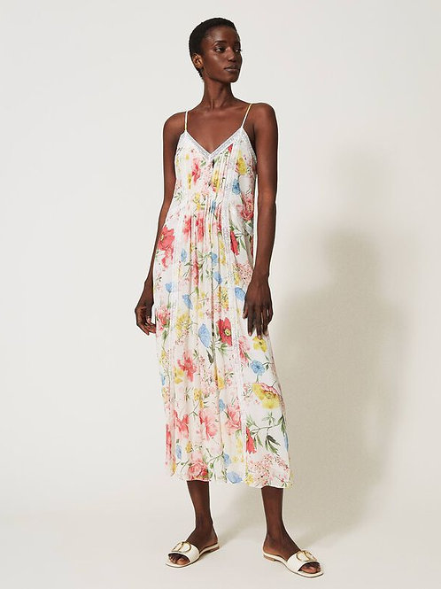 Twin-set dress flower print 211tt2520