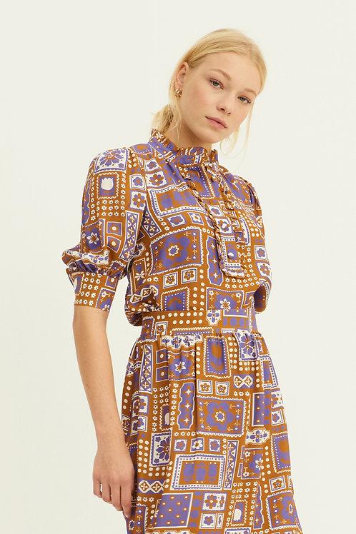 Antik Batik Honaka blouse brown