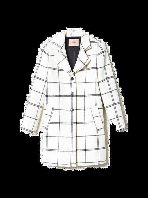 TWINSET - Jacquard wool cloth coat