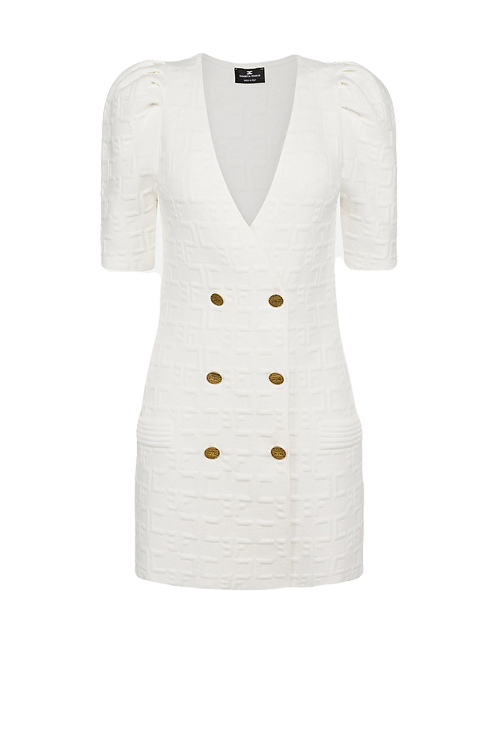 Elisabetta Franchi - Double-breasted V-neck mini dress