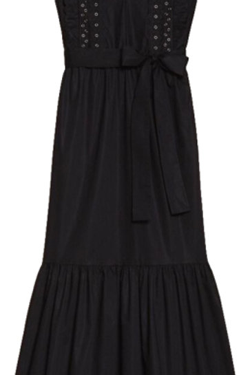 TWINSET Poplin long dress with embroidery
