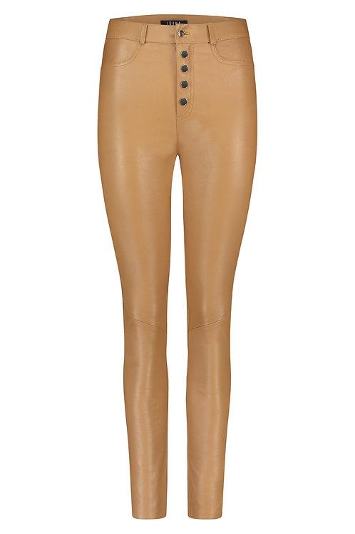 IBANA Leather pants plein toasted tan