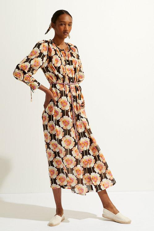 Antik Batik Flavy dress brown 013480