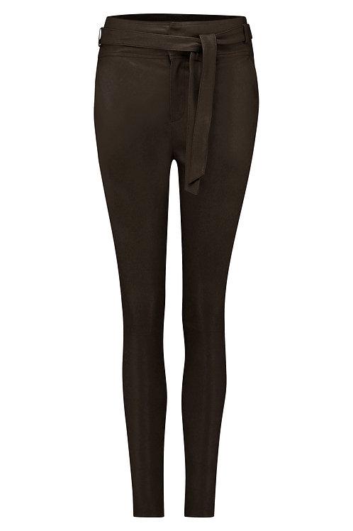 DNA Leather pants Ann dark chocolate