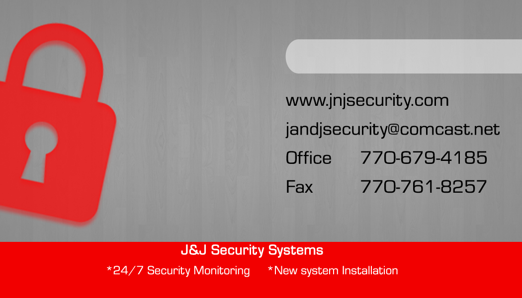 J & J Security Business Card Gray