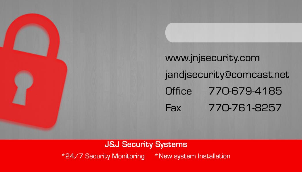J & J Security Business Card Gray