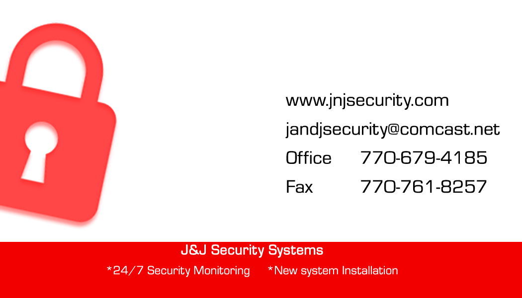 J & J Security Business Card White