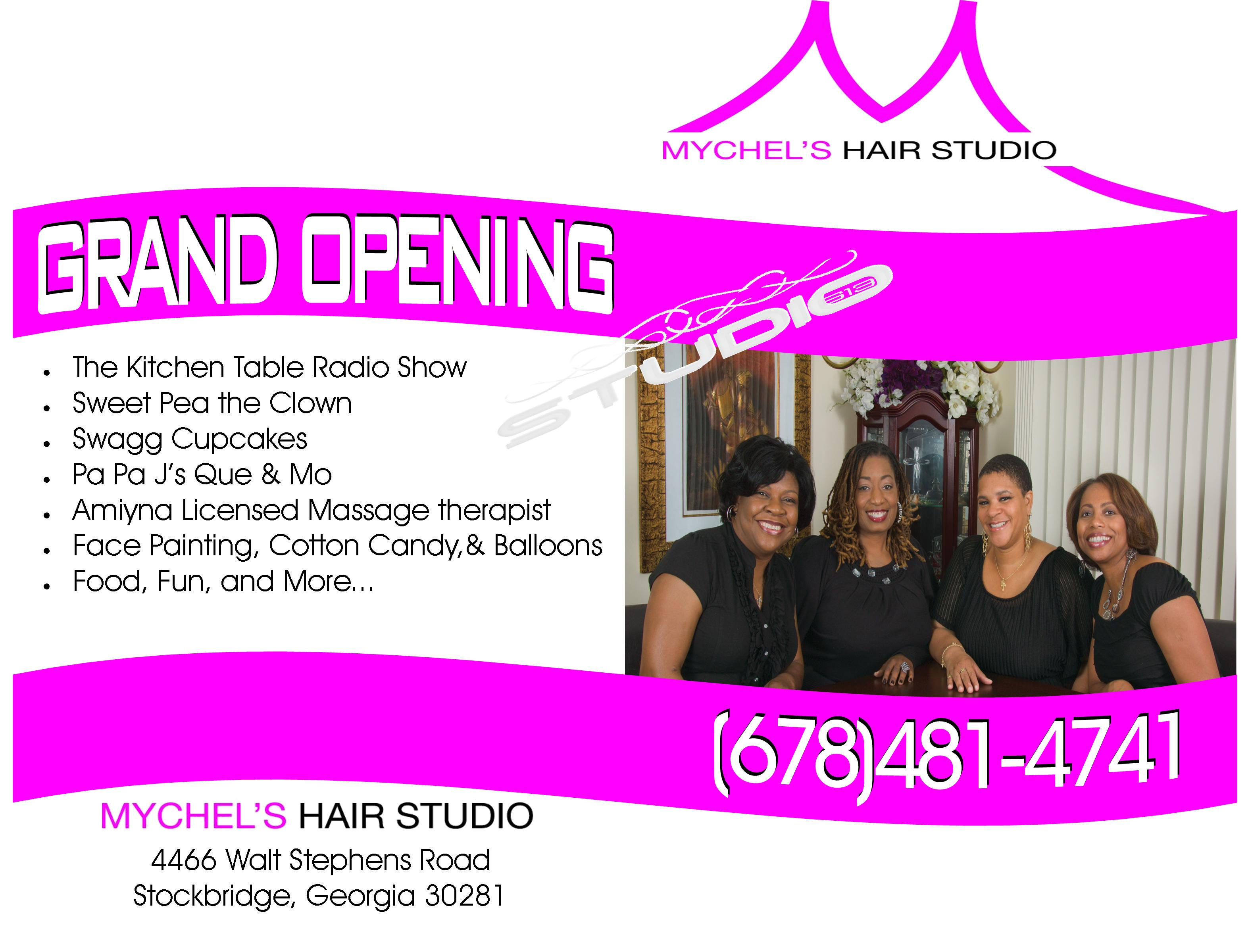 Mychels Hair Studio Flyer