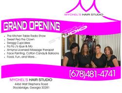 Mychels Hair Studio Flyer