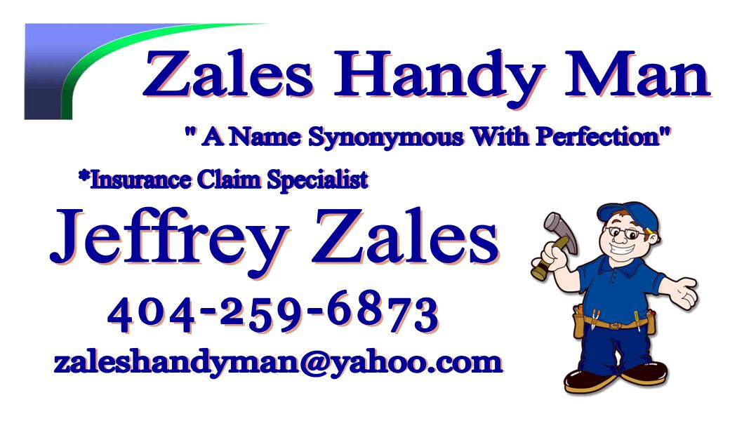 Zales Handy Man Business Card