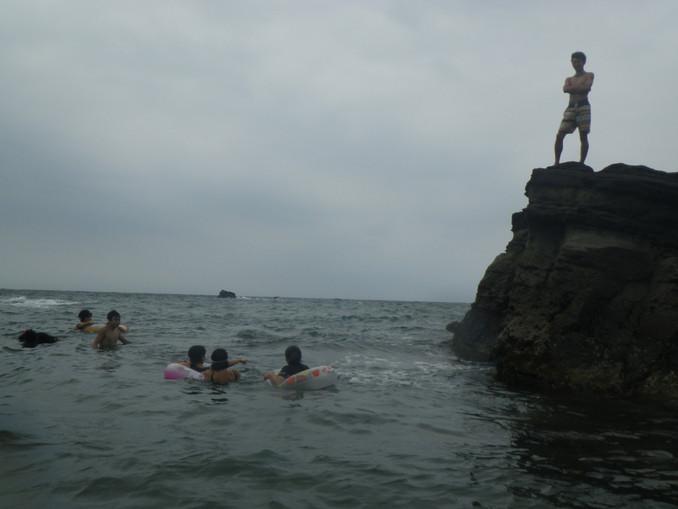 海水浴 in諸磯海岸