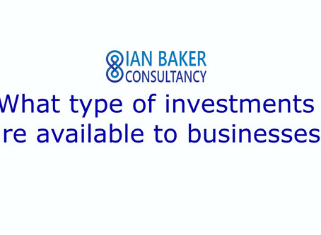 Businesses can be confused by the types of investment available
