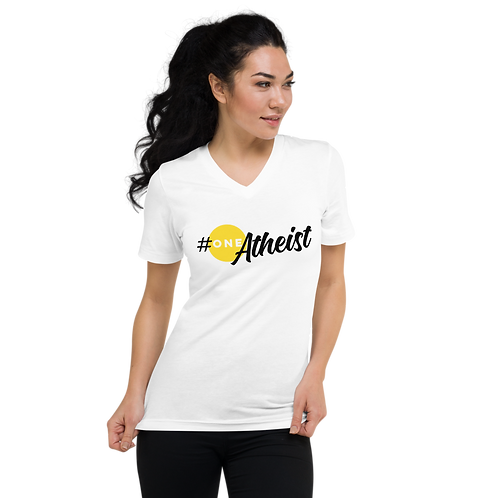 #oneATHEIST Unisex Short Sleeve V-Neck T-Shirt
