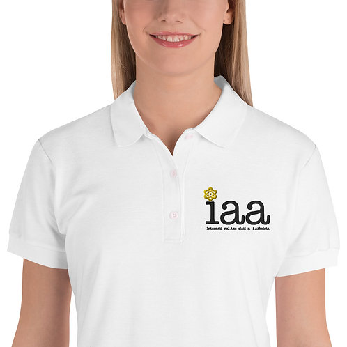 International Association of Atheists Embroidered Women's Polo Shirt