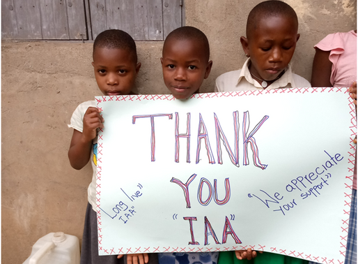 Congolese humanists say thanks for funding sanitary pad projects in 7 hours