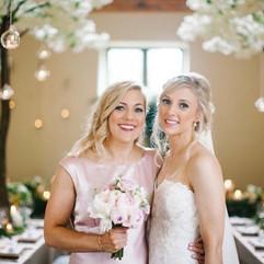 bridesmaid and bride wedding makeup.jpg