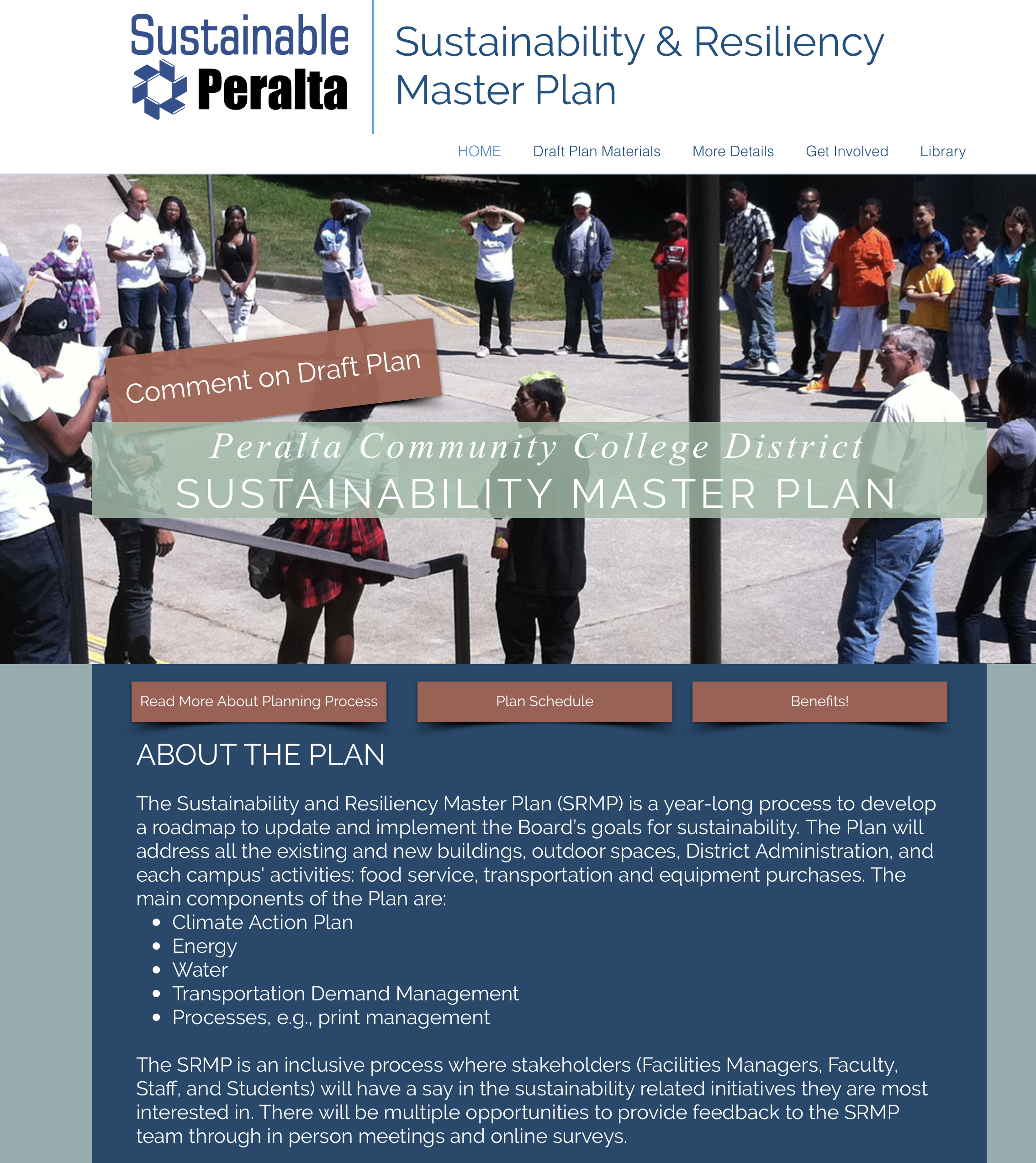 Peralta Sustainability Plan Website