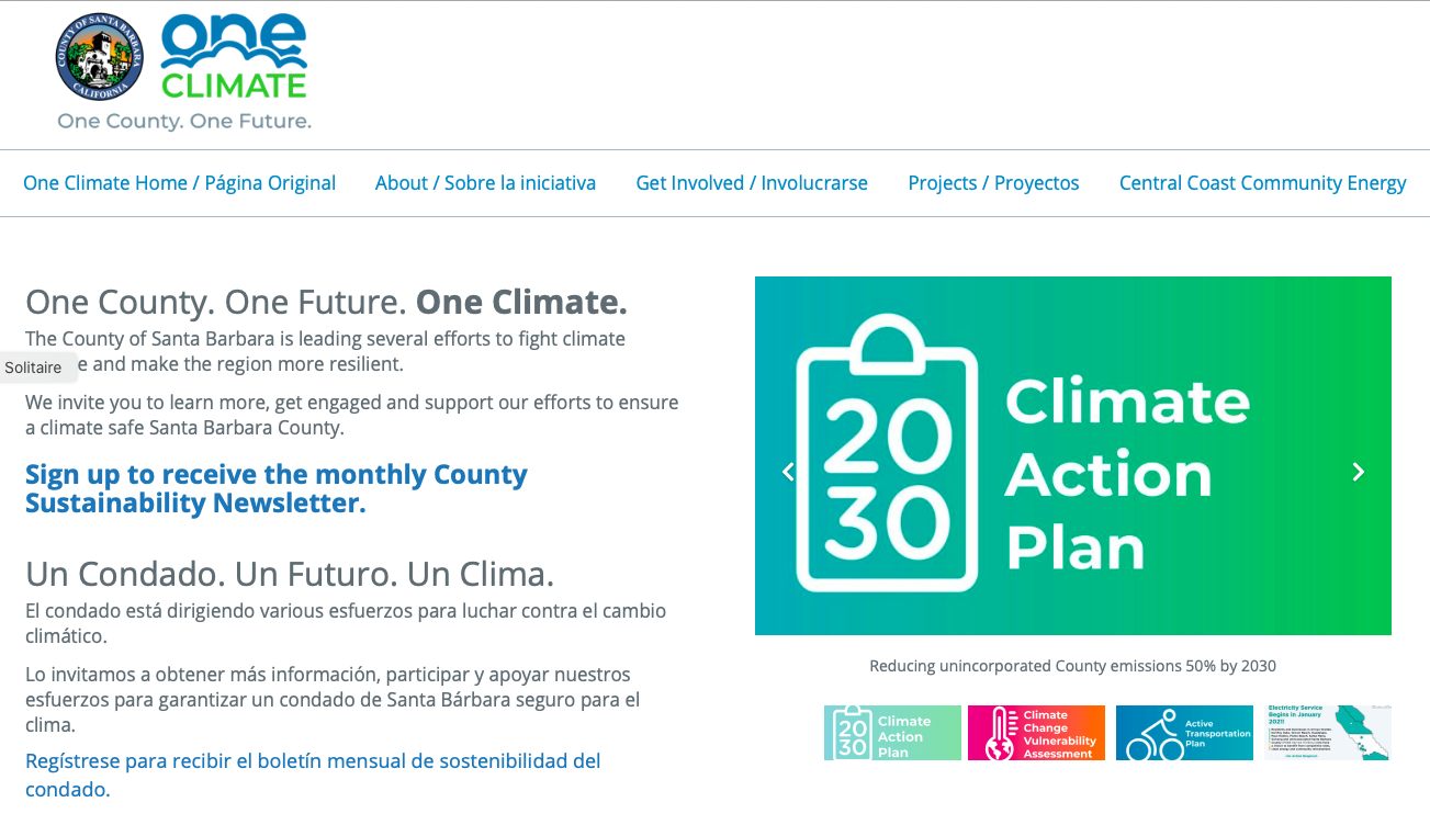 One Climate Website