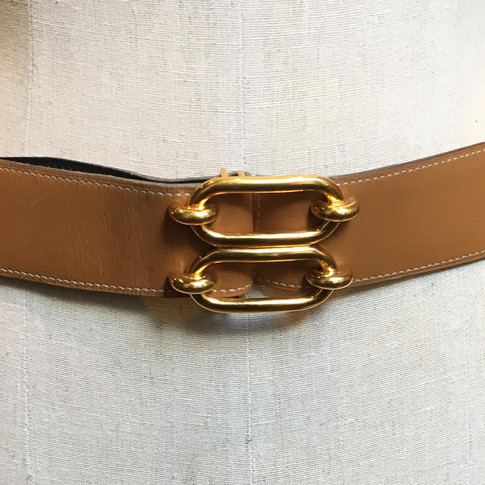 Tan with double buckle