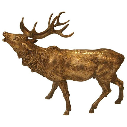 An exceptional silver stag