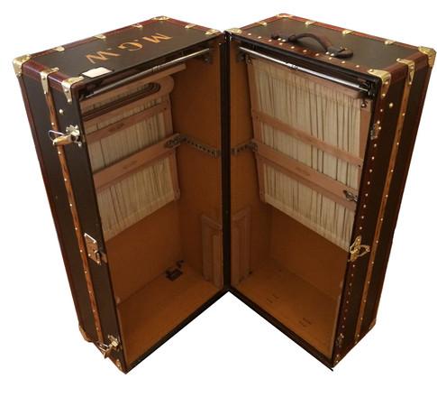 A Louis Vuitton double hanging wardrobe trunk