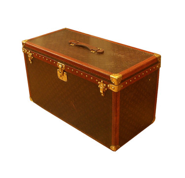 A Louis Vuitton gentlemans triple hatbox