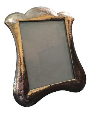 A Large Art Nouveau Hammered silver frame