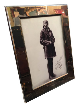 A Large sterling silver frame by Garrard