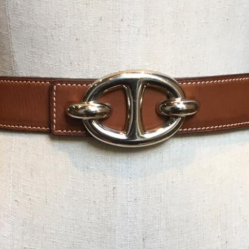 Tan leather strap