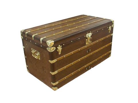 A Louis Vuitton courier trunk