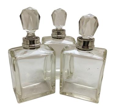 A set of 3 Art Deco Decanters