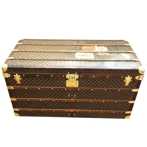 A Louis Vuitton Damier pattern courier trunk