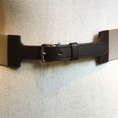 Grey canvas belt