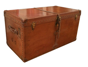 A Louis Vuitton all leather courier trunk