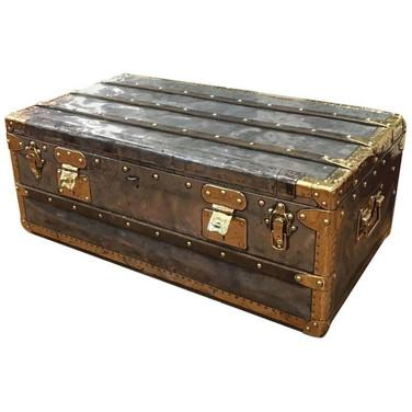 An exceptionally rare Louis Vuitton zinc explorer trunk