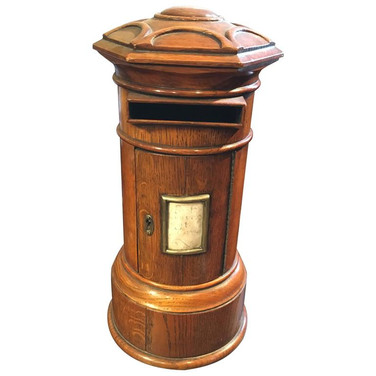 A Victorian country house letter box