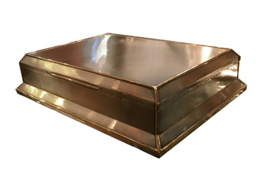 An Asprey Gold and Silver Art Deco cigar box.