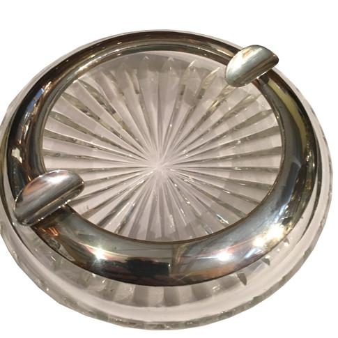 Silver & Glass club cigar ashtray