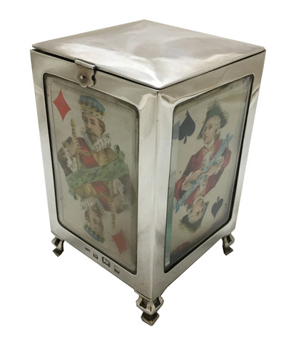 A rare playing card box