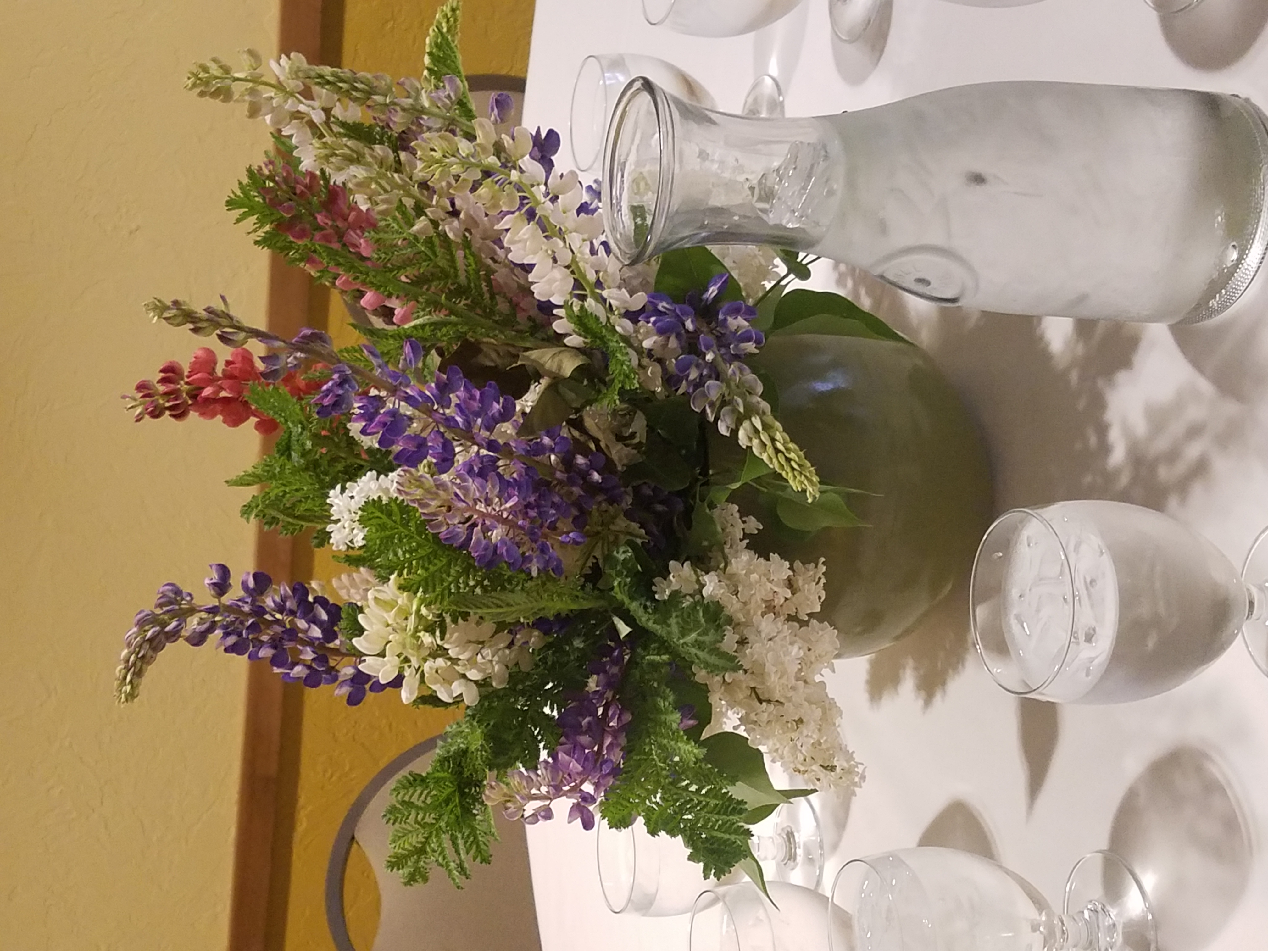 Lupine arrangement