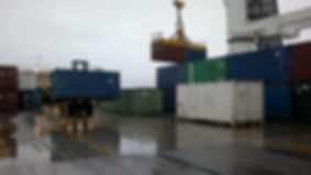 Offloading containers