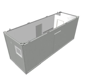 Toimisto-/majoitus moduuli (wc:llä ja suihkulla) -  IMODT004